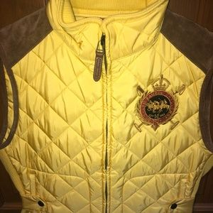 Ralph Lauren Suede Equestrian Crested Vest, Size L